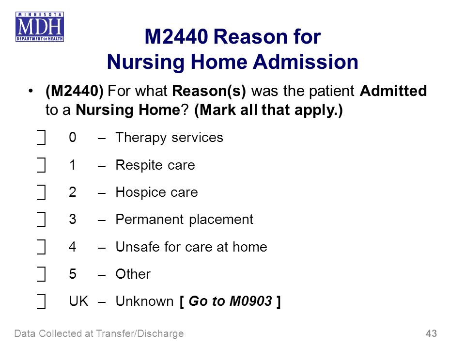 Nursing Home Admission
