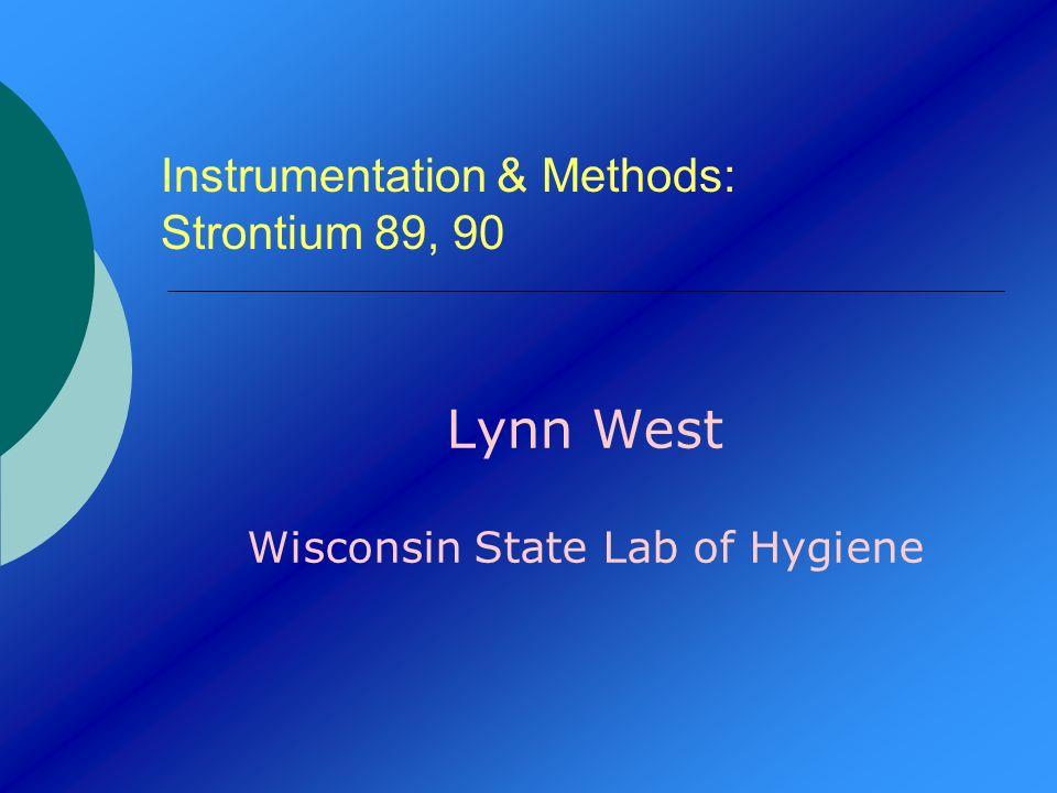 Instrumentation & Methods: Strontium 89, 90