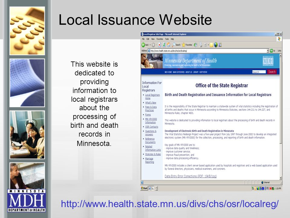 Local Issuance Website