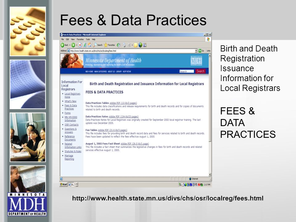 Fees & Data Practices FEES & DATA PRACTICES