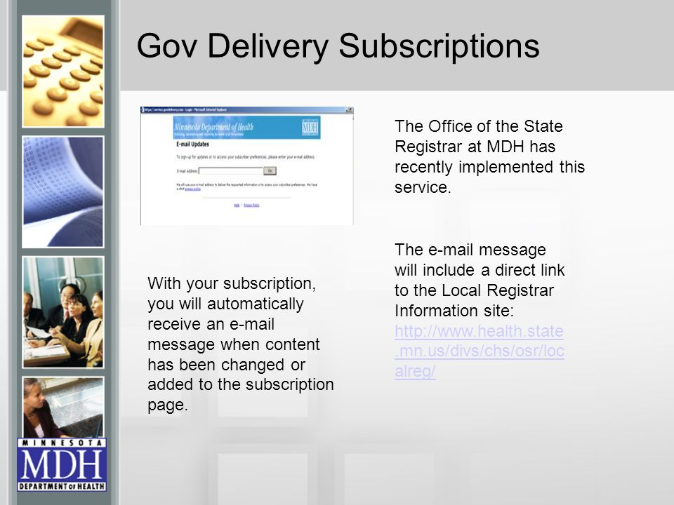 Gov Delivery Subscriptions