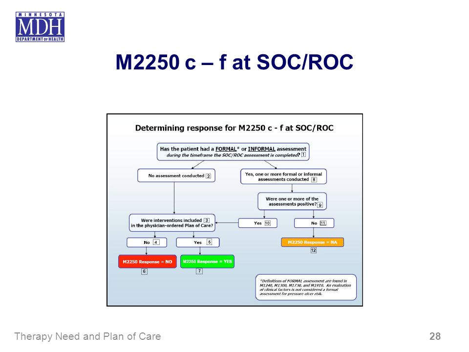 M2250 c – f at SOC/ROC Therapy Need and Plan of Care