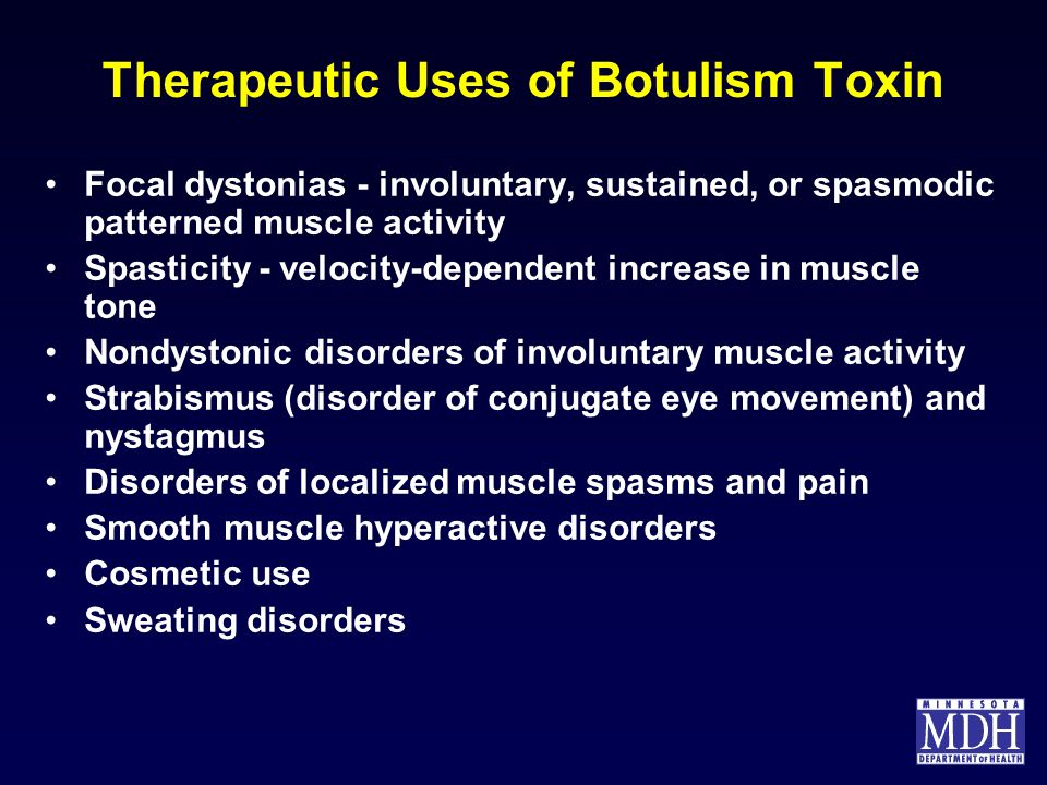 Therapeutic Uses of Botulism Toxin