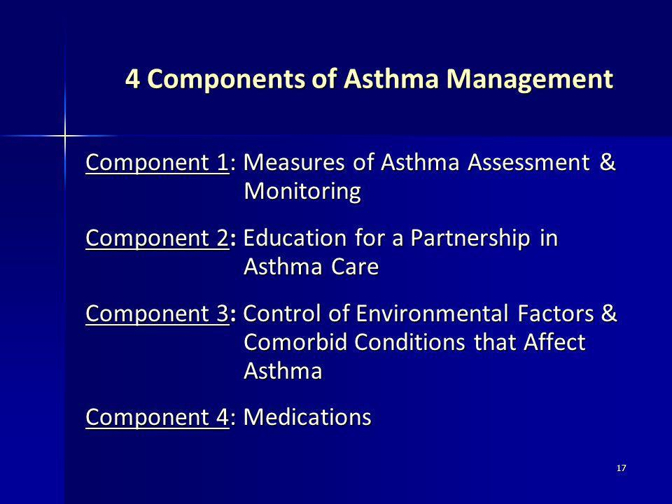 4 Components of Asthma Management