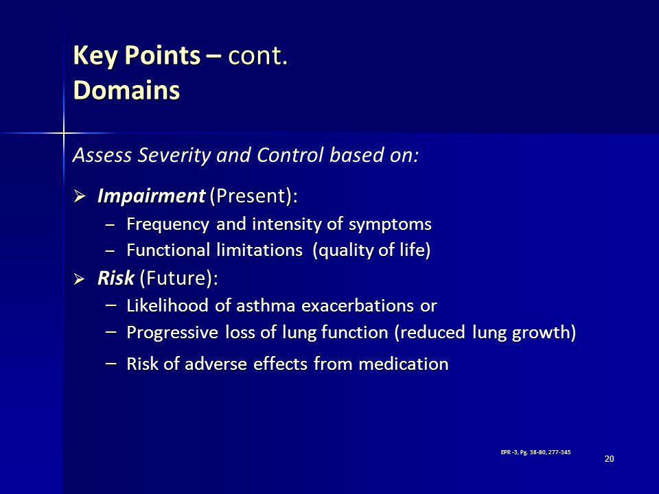 Key Points – cont. Domains