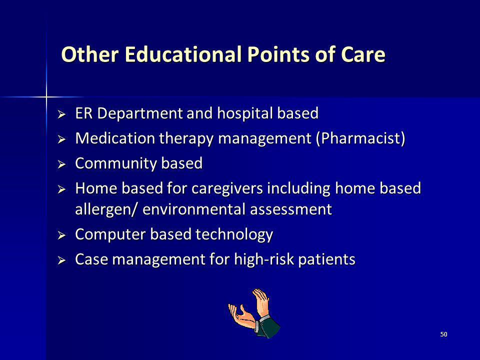 Other Educational Points of Care