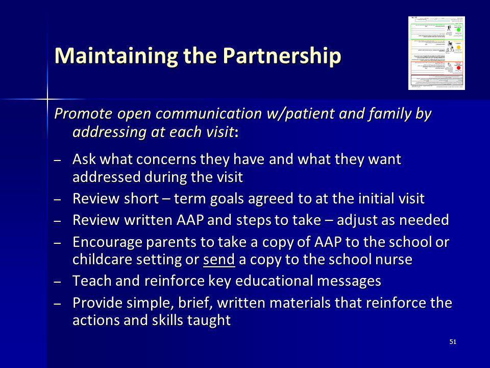 Maintaining the Partnership