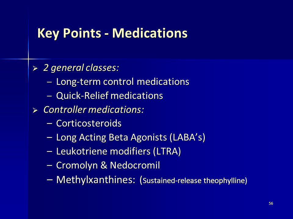 Key Points - Medications