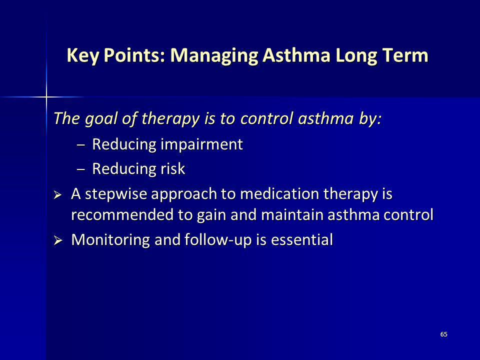 Key Points: Managing Asthma Long Term