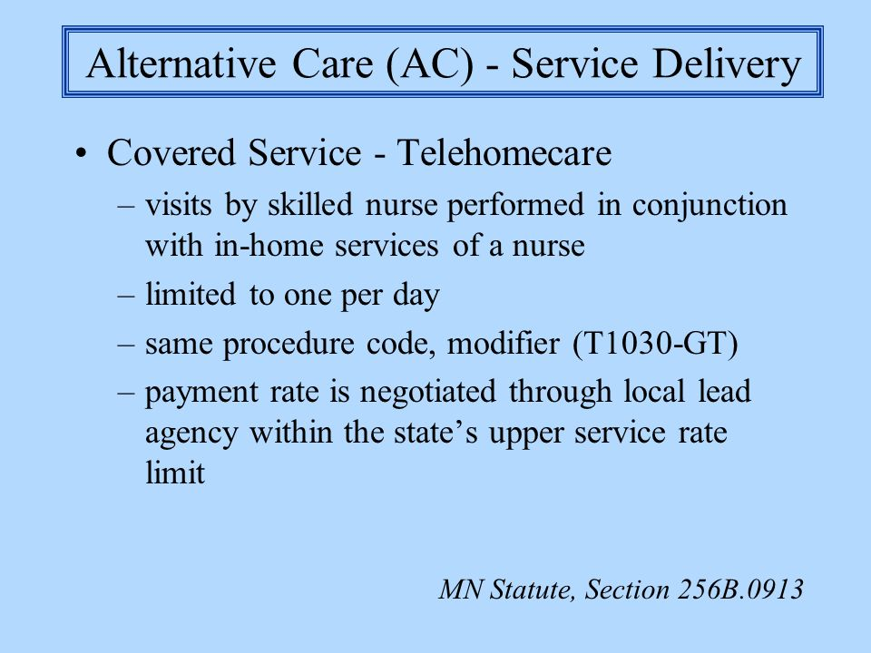 Alternative Care (AC) - Service Delivery
