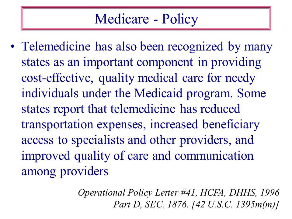 Medicare - Policy