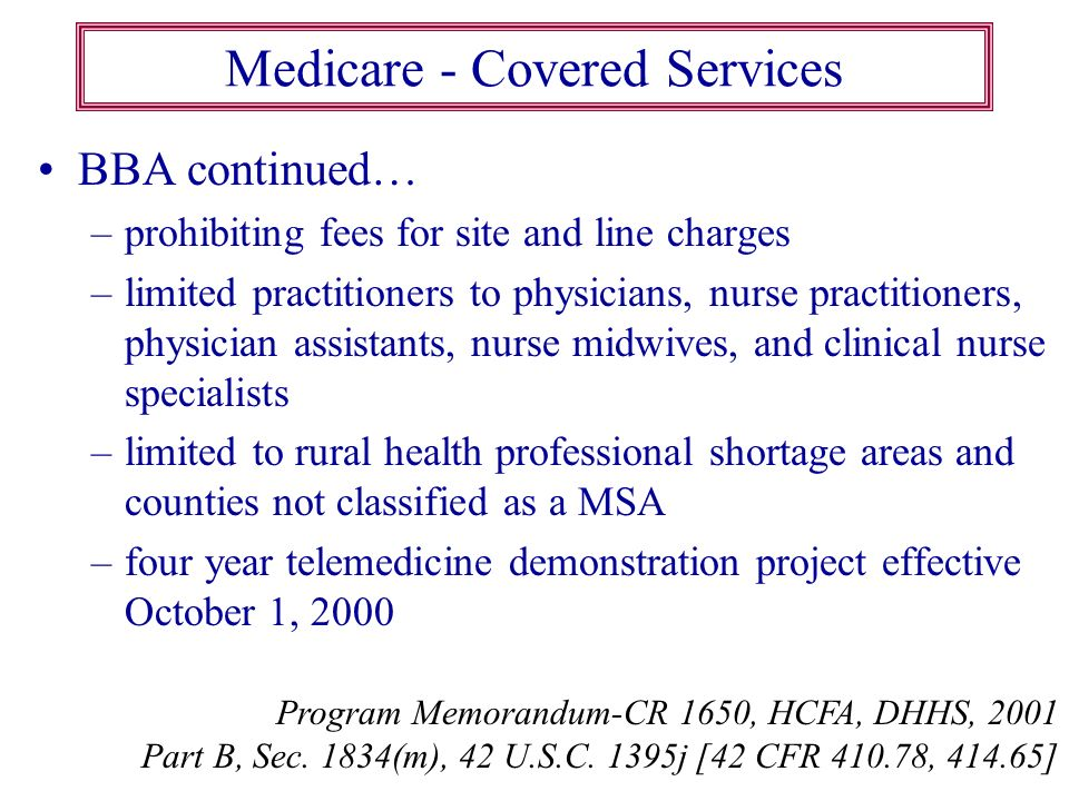 Medicare - Covered Services