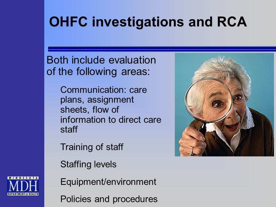 OHFC investigations and RCA