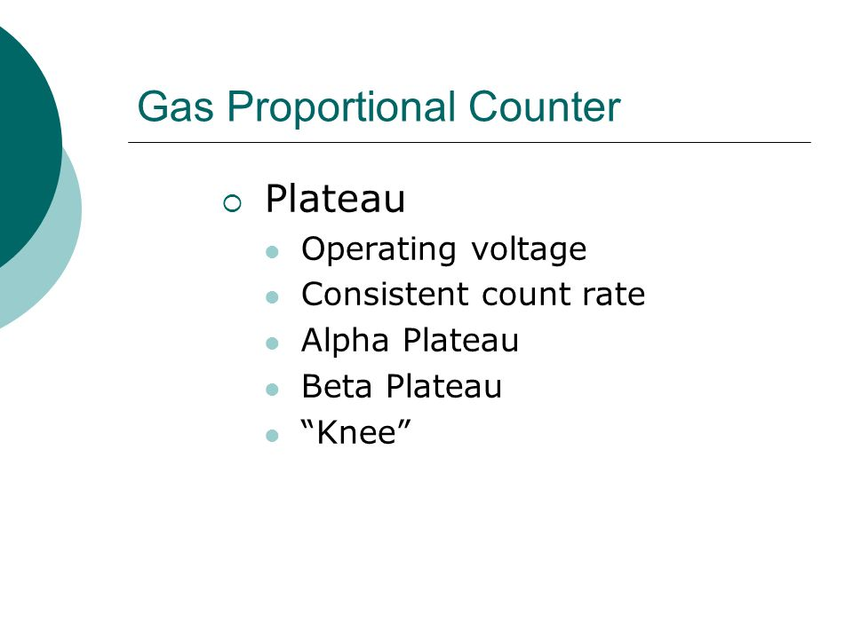 Gas Proportional Counter
