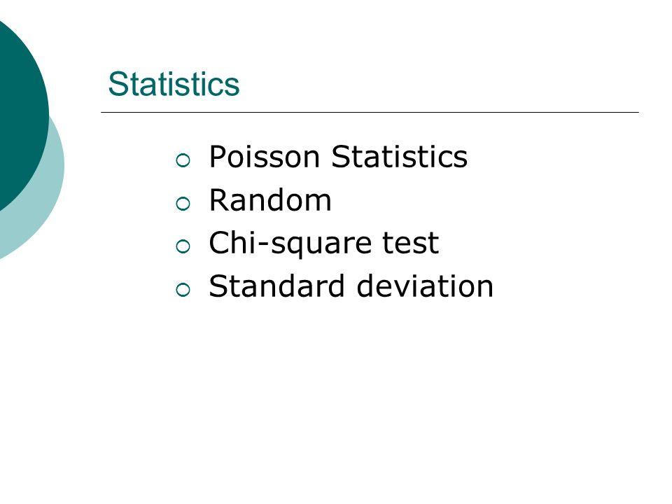 Statistics Poisson Statistics Random Chi-square test