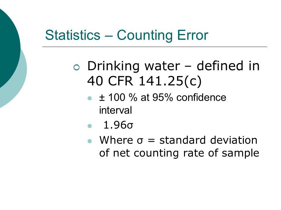 Statistics – Counting Error