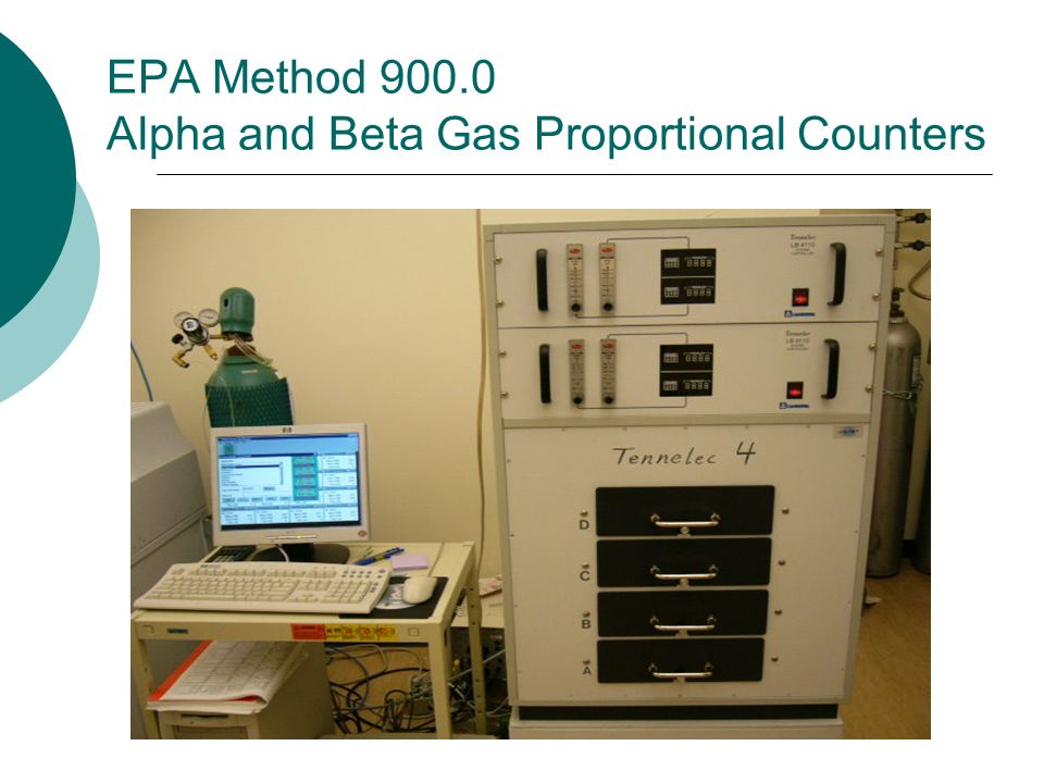 EPA Method 900.0 Alpha and Beta Gas Proportional Counters