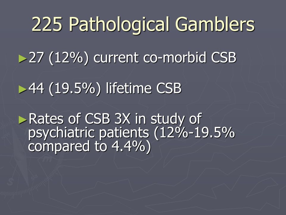225 Pathological Gamblers
