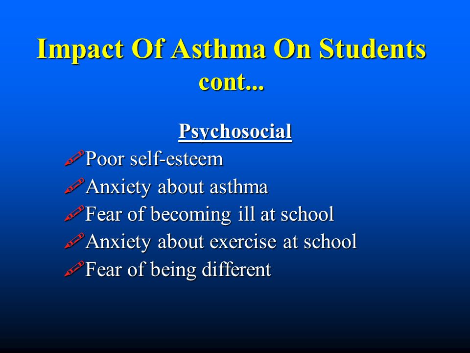 Impact Of Asthma On Students cont...