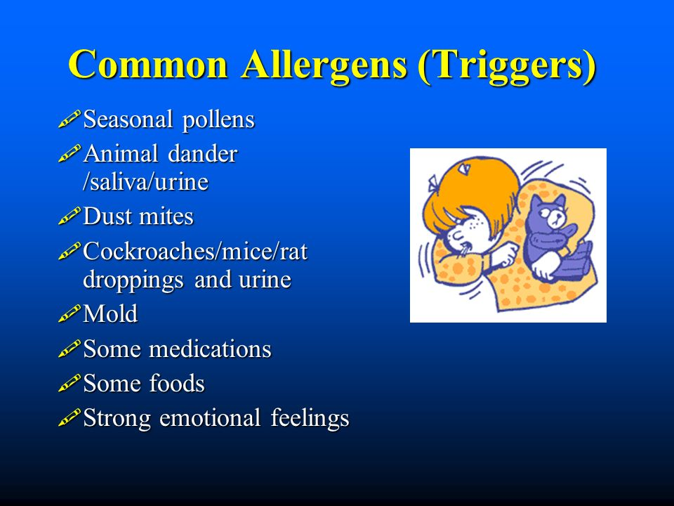 Common Allergens (Triggers)