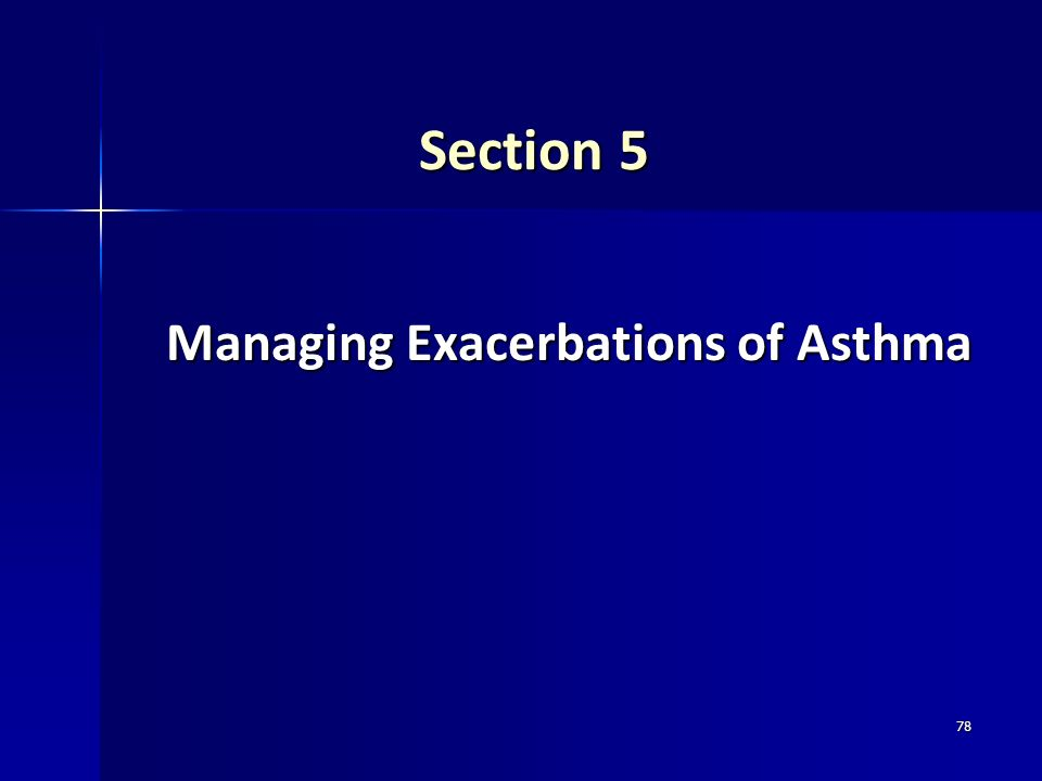 Managing Exacerbations of Asthma