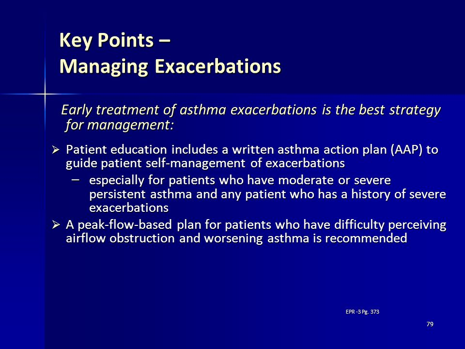 Key Points – Managing Exacerbations