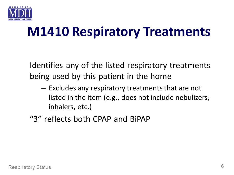 M1410 Respiratory Treatments