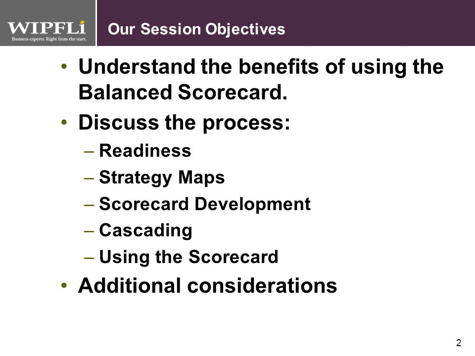 Our Session Objectives