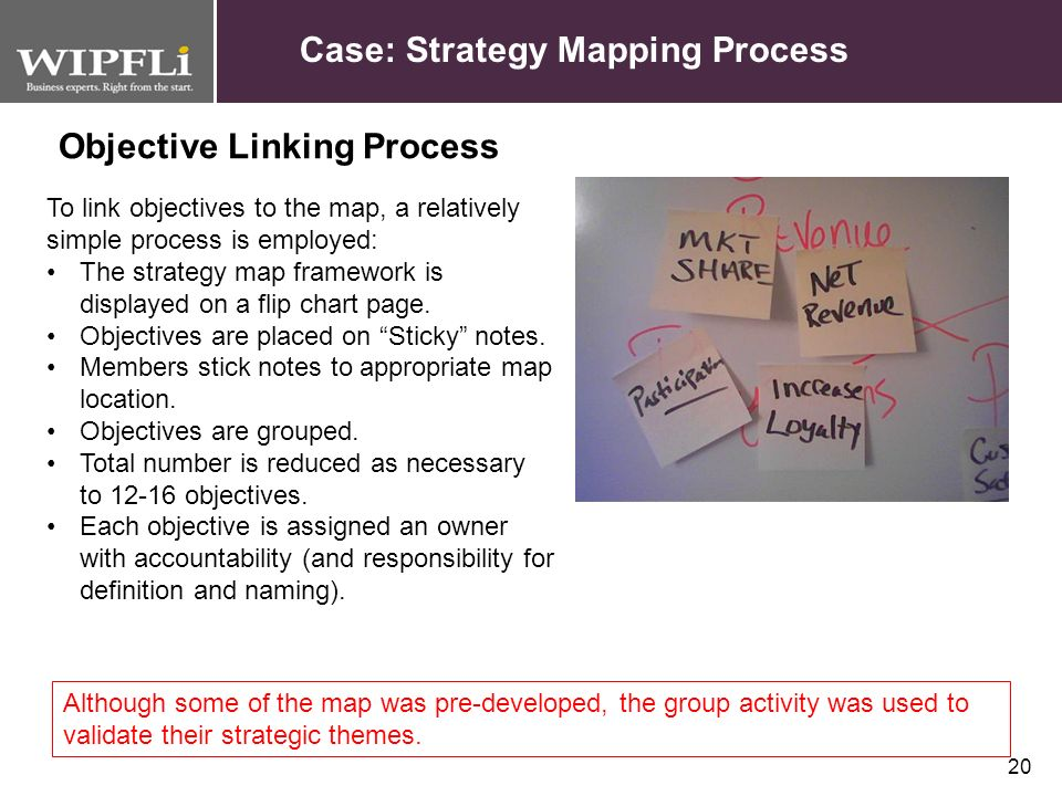 Objective Linking Process