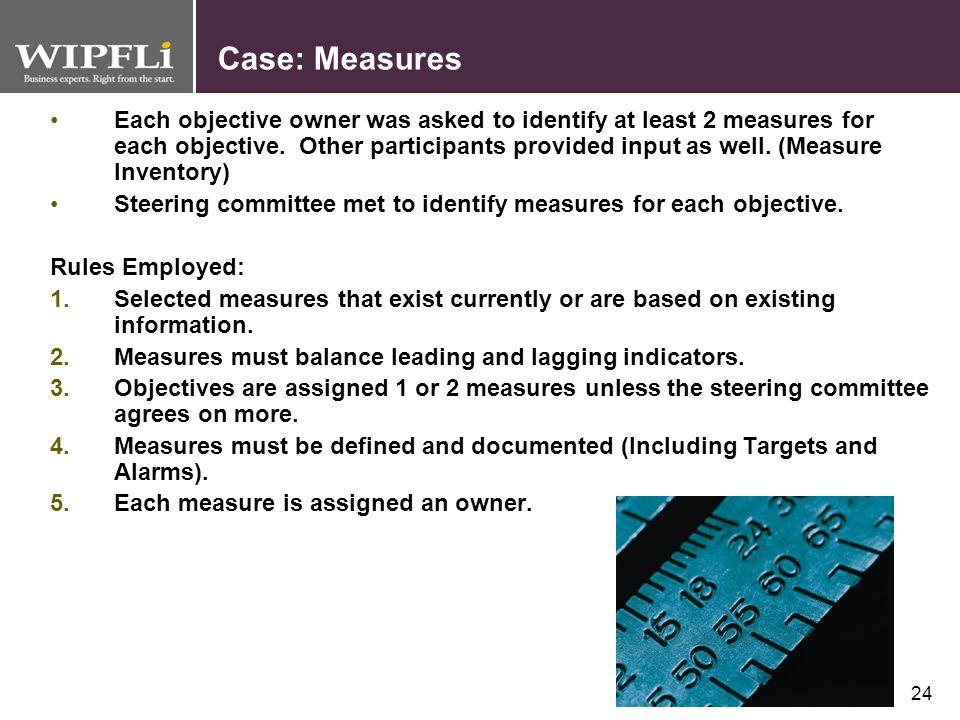 Case: Measures