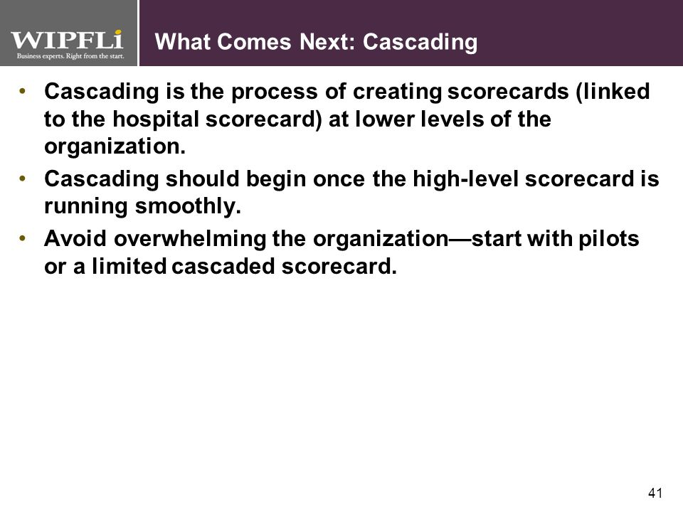 What Comes Next: Cascading