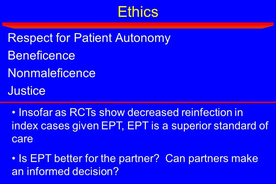 Ethics Respect for Patient Autonomy Beneficence Nonmaleficence Justice