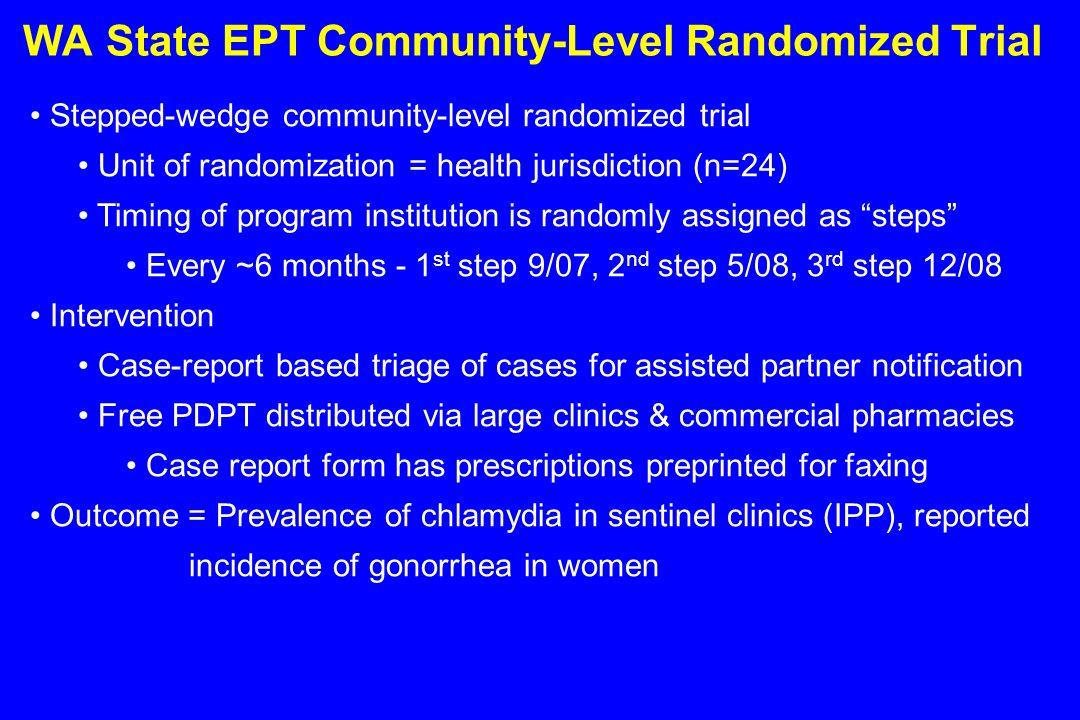 WA State EPT Community-Level Randomized Trial