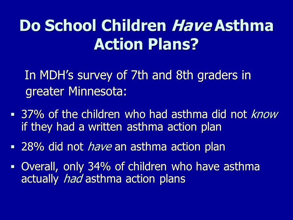 Do School Children Have Asthma Action Plans