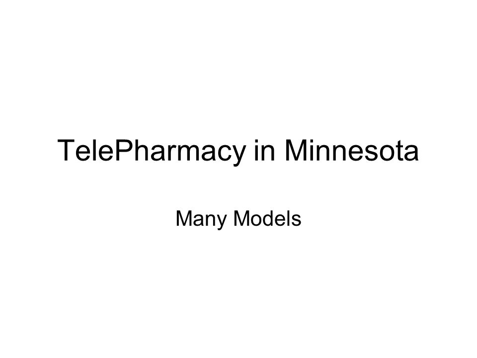 TelePharmacy in Minnesota