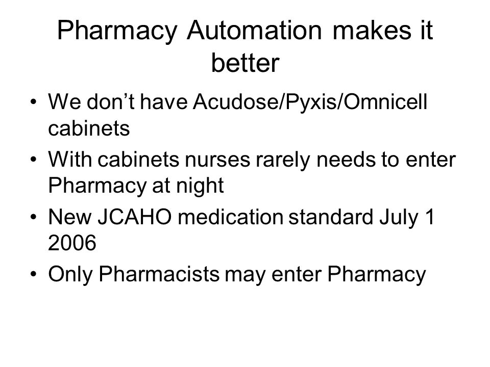 Pharmacy Automation makes it better