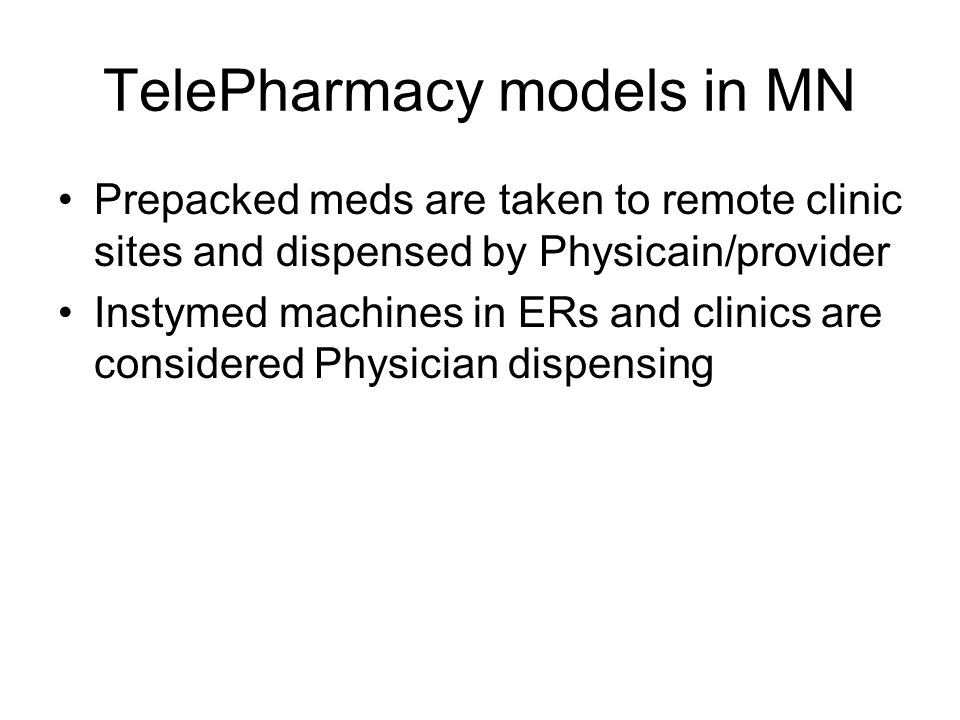 TelePharmacy models in MN