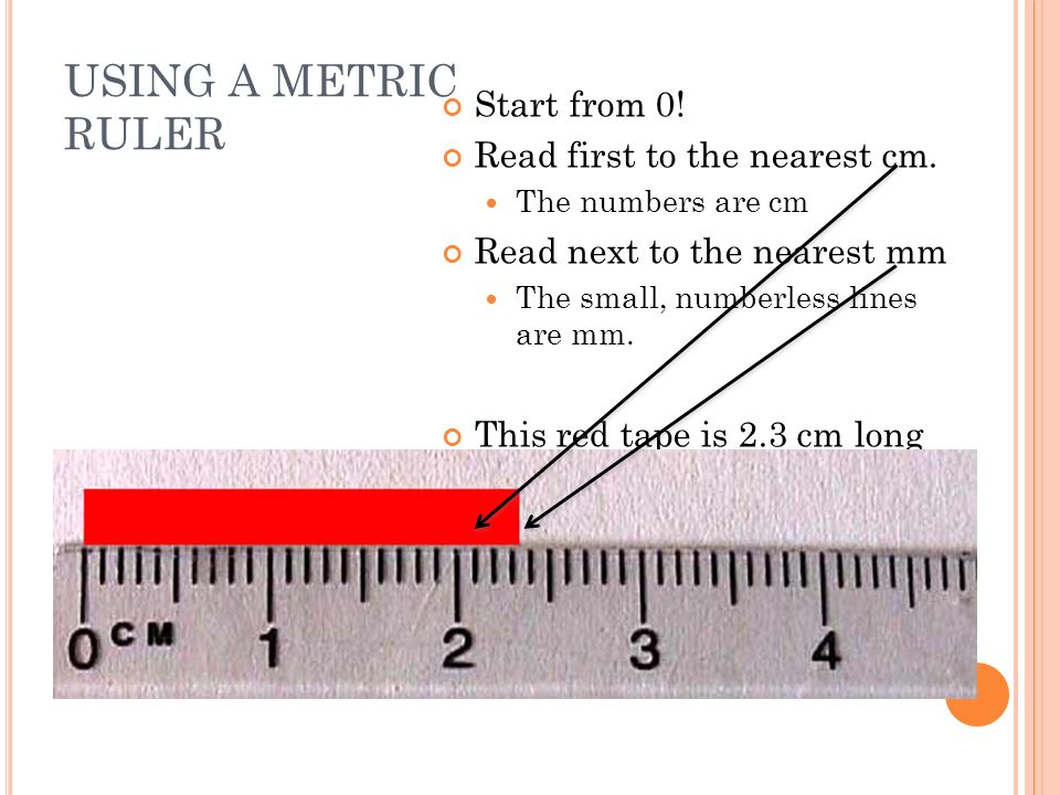 Drawing Lines To Nearest Cm : Measuring metric length ppt video online download
