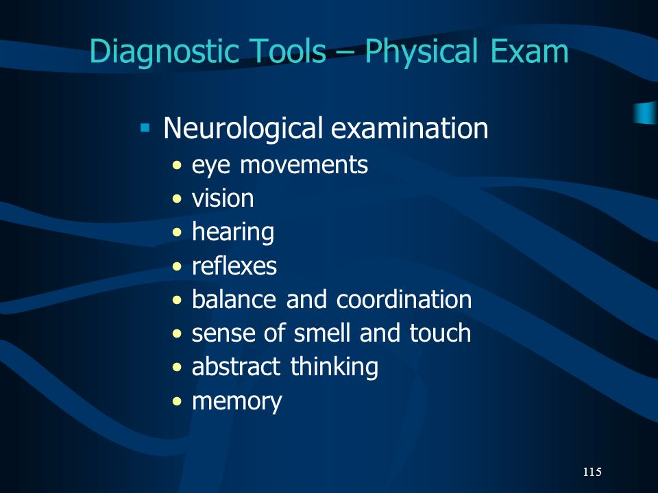 Diagnostic Tools – Physical Exam