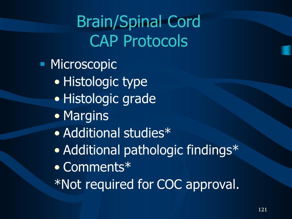 Brain/Spinal Cord CAP Protocols