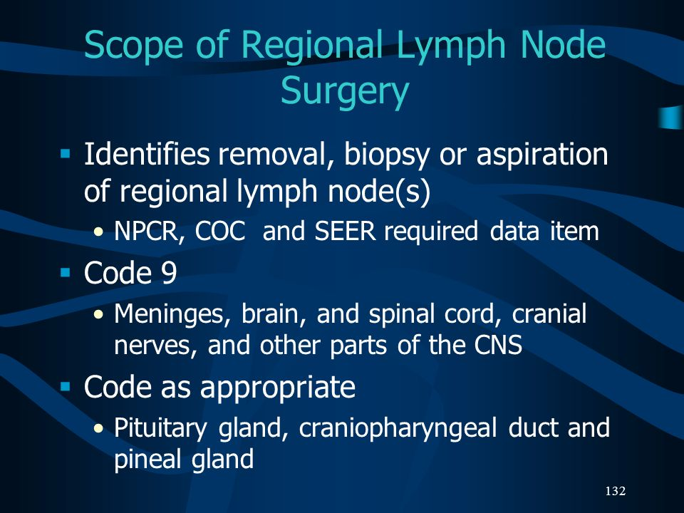 Scope of Regional Lymph Node Surgery