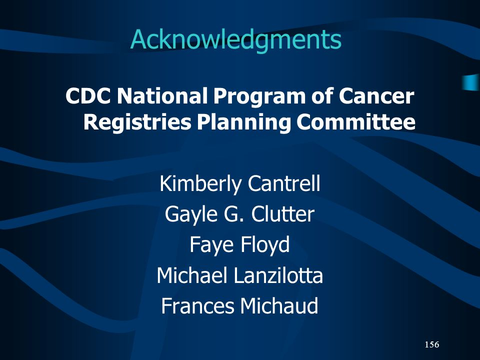 CDC National Program of Cancer Registries Planning Committee