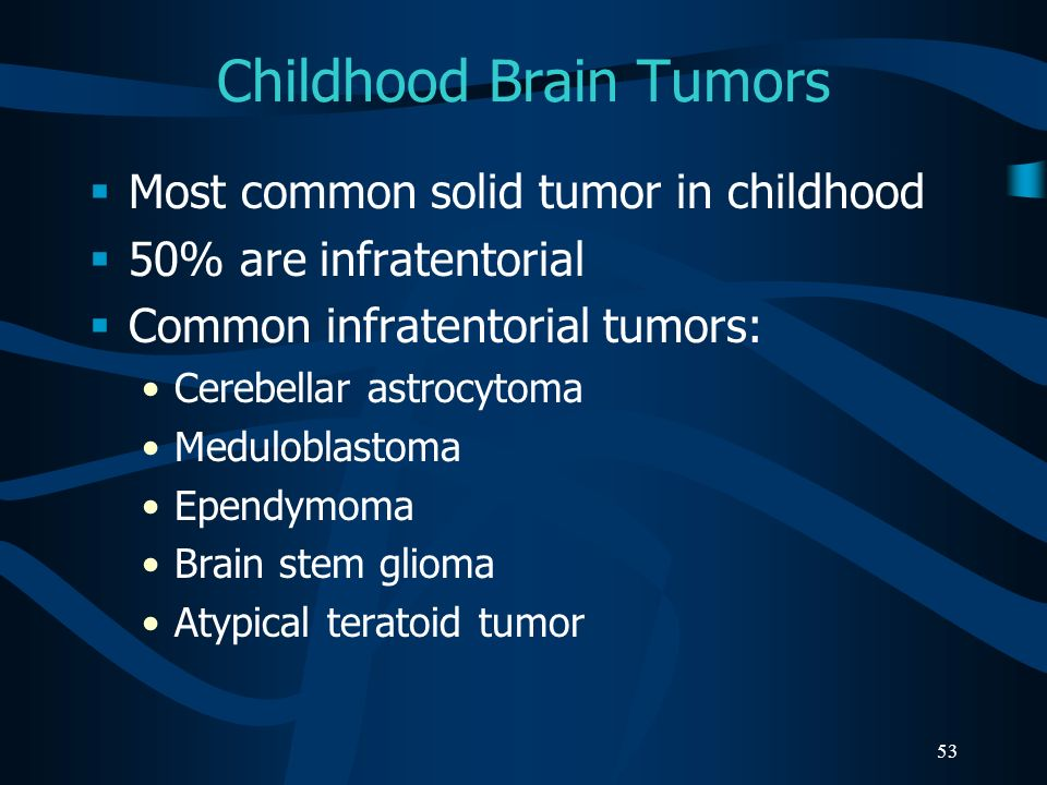 Childhood Brain Tumors