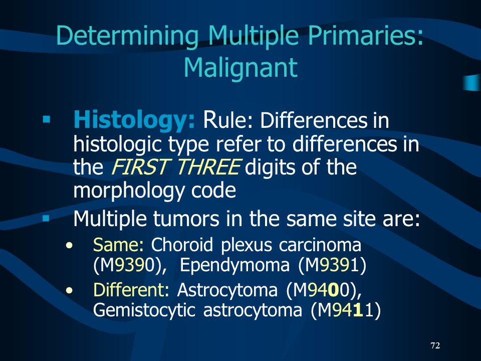 Determining Multiple Primaries: Malignant