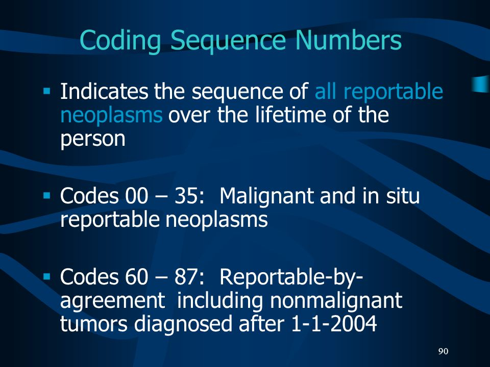Coding Sequence Numbers