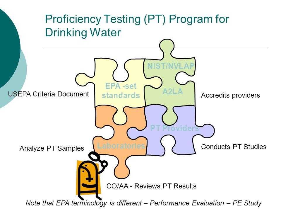 Proficiency Testing (PT) Program for Drinking Water