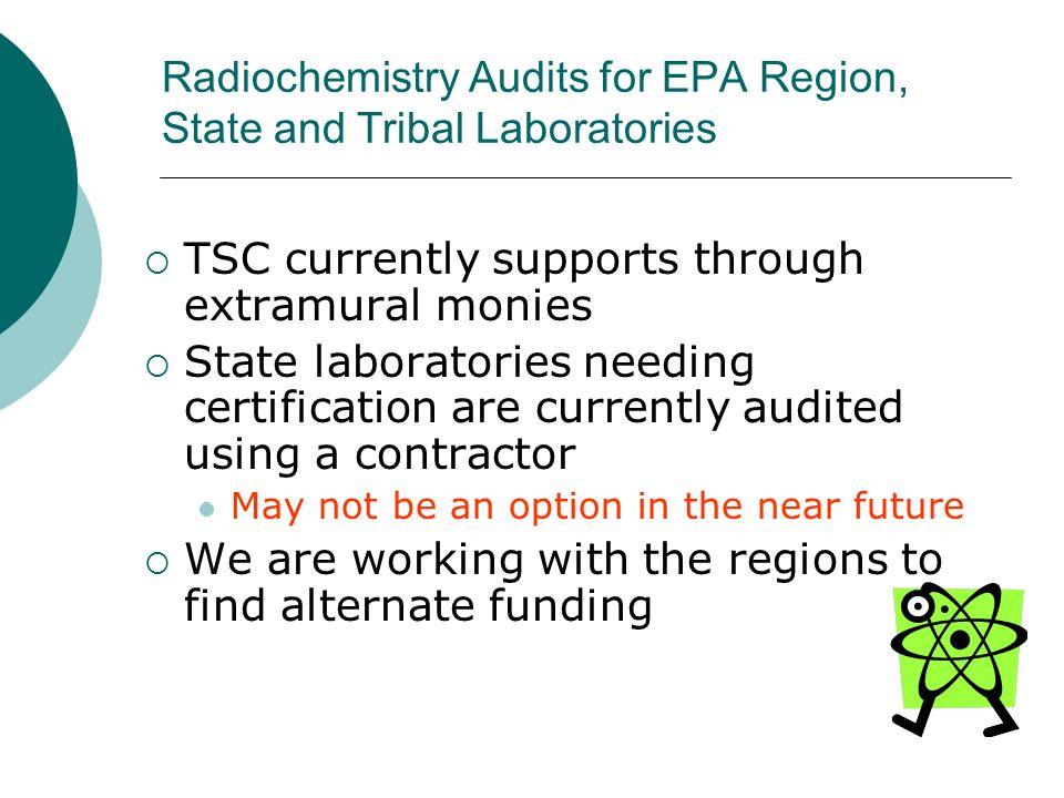Radiochemistry Audits for EPA Region, State and Tribal Laboratories