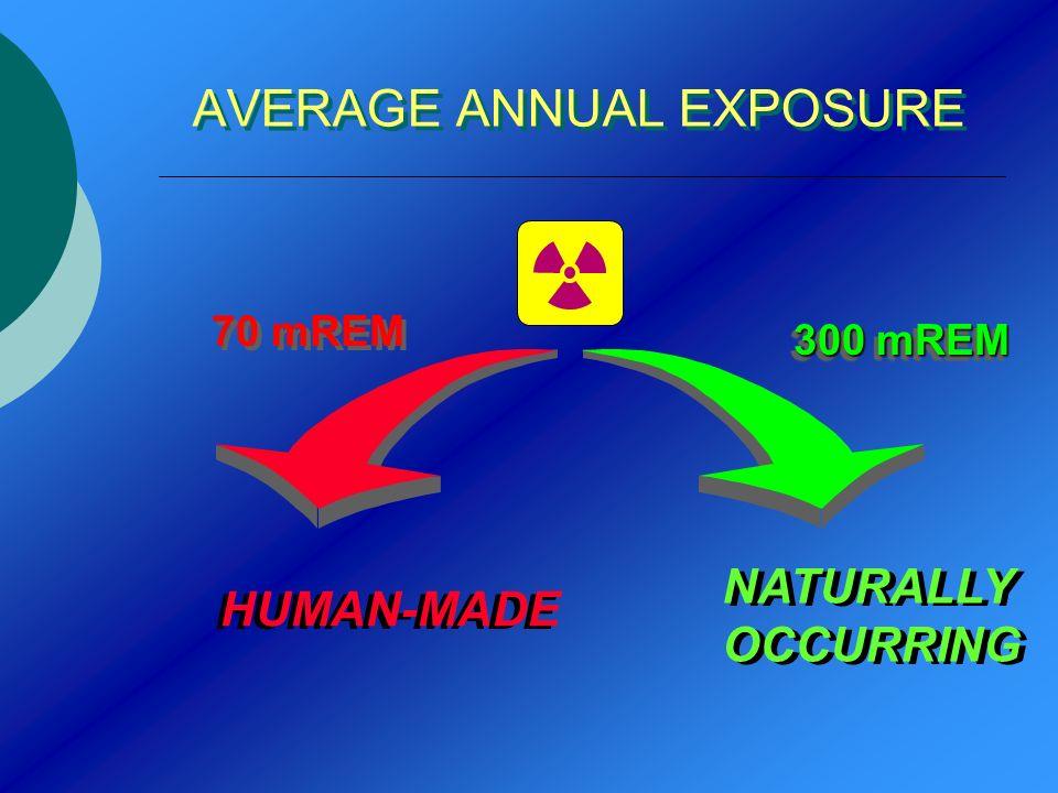 AVERAGE ANNUAL EXPOSURE