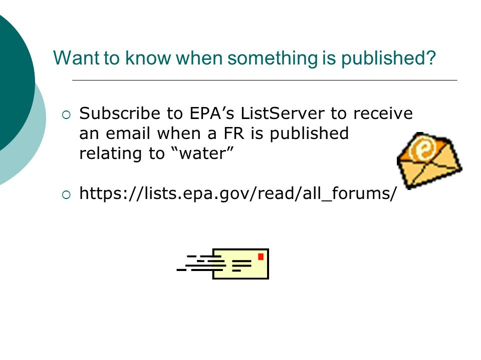 Want to know when something is published