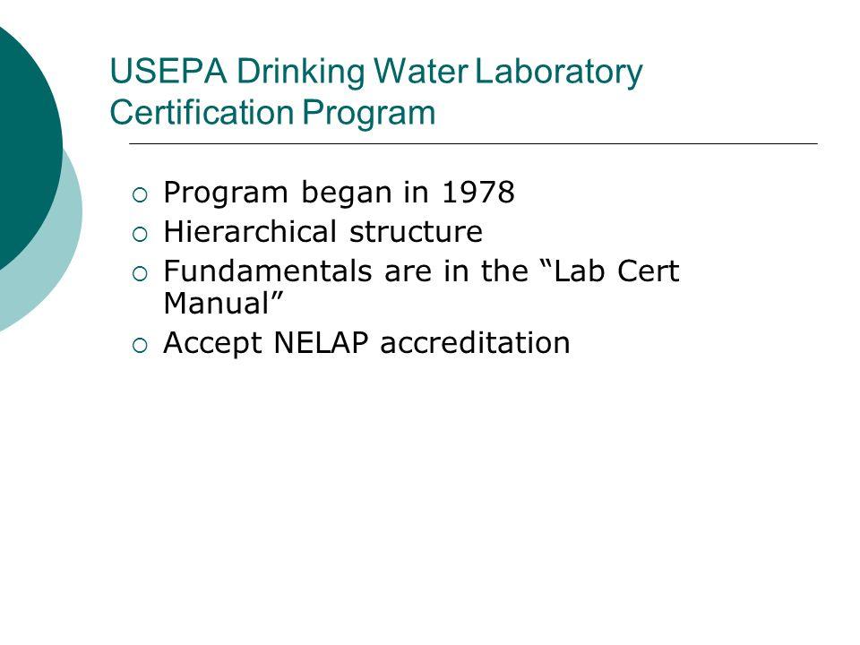 USEPA Drinking Water Laboratory Certification Program